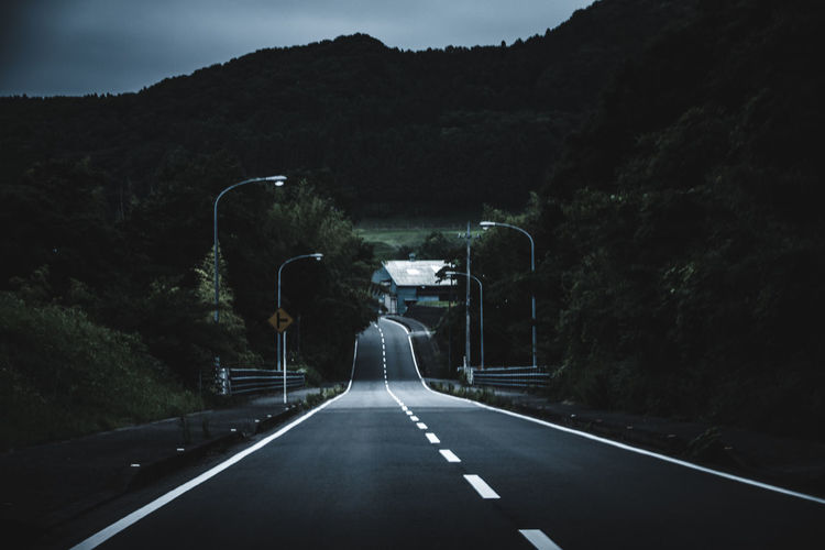 Drastic Edit Dark Cinematic Photography Fate  Exceptional Photographs EyeEm Best Shots EyeEm Gallery Green Japan Perspective Trees Atmospheric Mood Countryside Fine Art Landscape Landscapes Light And Shadow Mountain Nature On The Road Outdoors Road Sky Summer Vanishing Point The Week On EyeEm