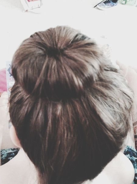 Did my first sock bun and it turned out cute. Sockbun  Cute Sister Hair