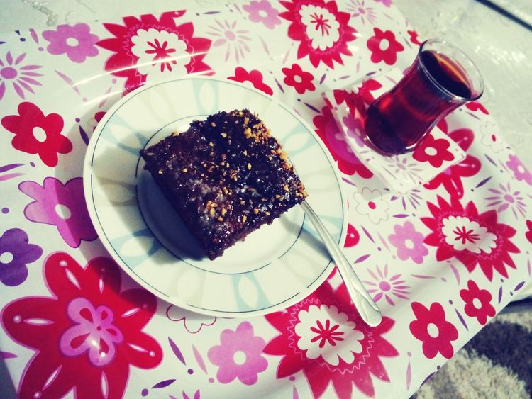 Foodporn Chocolate Cake Benyaptım Aksam Cayi