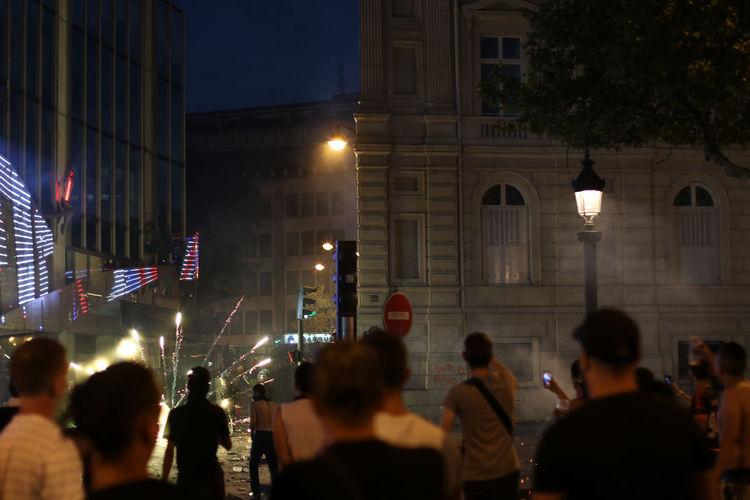 The very special night of the World Cup Finale 2018. Celebrated in Paris with my camera. Street Streetphotography Streetart #street #streetphotography #tagsforlikes #sprayart #urban #urbanart #urbanwalls #wall #wallporn #graffitiigers #stencilart #art #graffiti #instagraffiti #instagood #artwork #mural #graffitiporn #photooftheday #stencil #streetartistry #photograp Revolution Protests France Paris world cup 2018 World Cup Fifa FIFA 2018 Building Exterior Illuminated Lighting Equipment City Life Light Burning Burning Sky