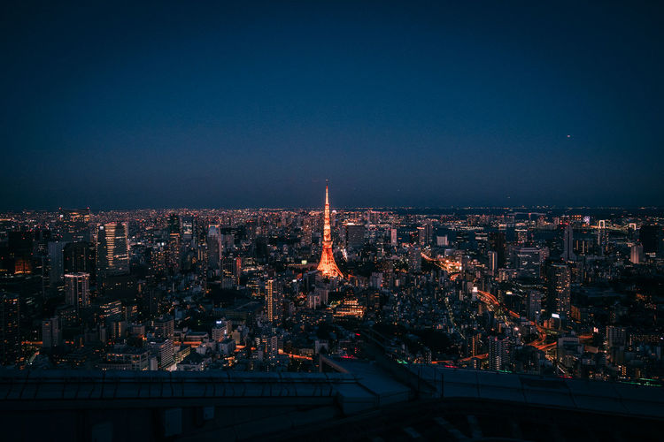 2017 Summer Tokyo Tower Tokyo Tokyo Tower Tokyo,Japan Roppongi Mori Tower City Cityscape Urban Skyline Illuminated Skyscraper Clear Sky Bridge - Man Made Structure Sky Architecture Building Exterior First Eyeem Photo EyeEmNewHere