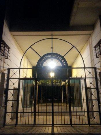 Behind The Door Gate Paris By Night