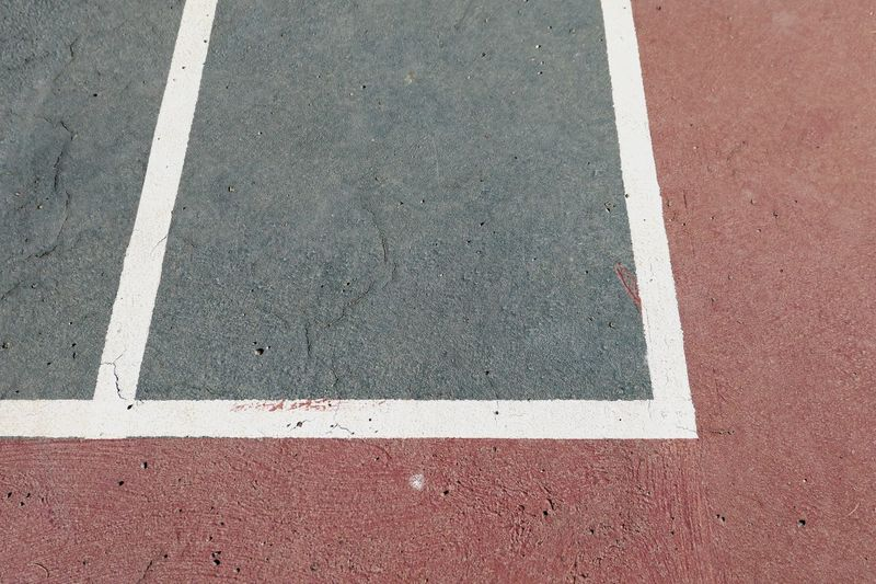 High angle view of marking on sports field