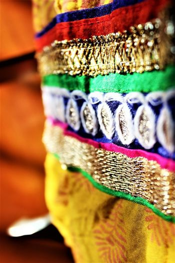 EyeEmNewHere Indian Art And Craft Celebration Close-up Indian Wear Multi Colored Pattern
