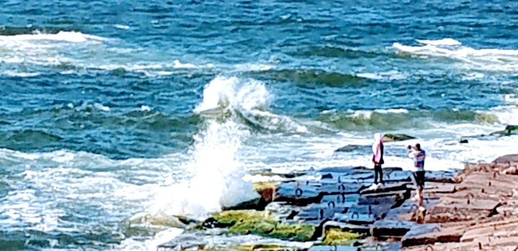 Alexandria city , Egypt Water Wave Sea Power In Nature Men Motion Spraying Force Splashing