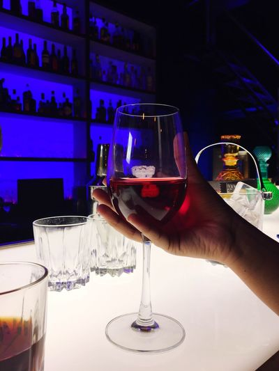 Cheers to Good health!! Drink Alcohol Refreshment Food And Drink Human Hand Drinking Glass Real People One Person Human Body Part Indoors  Cocktail Bar - Drink Establishment Lifestyles Bartender Happy Hour Celebration Holding Night Freshness