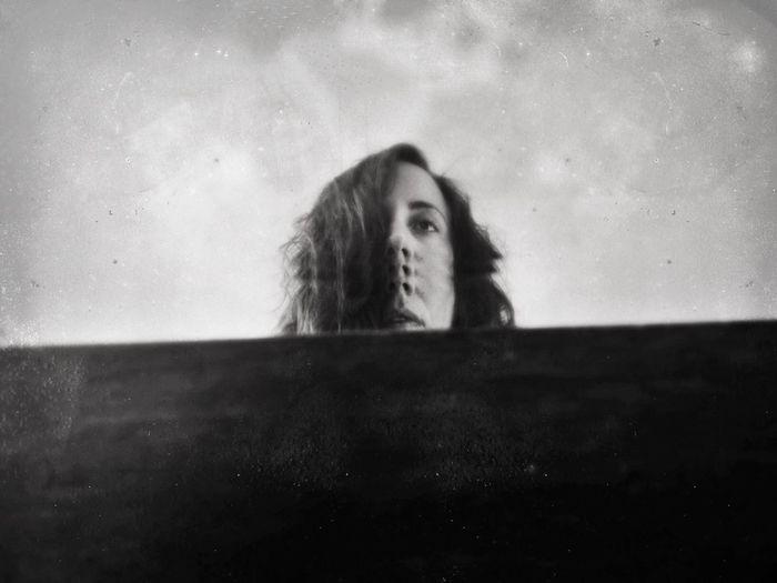 The New Self-Portrait Black And White Portrait NEM Self Distortion Distorted