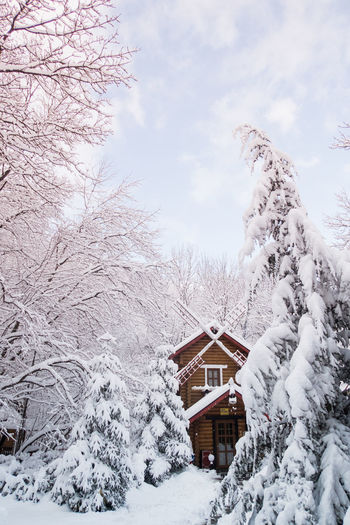 Fairy-tale Shades Of Winter House Winter Snow Cold Temperature Cloud - Sky Architecture Building Exterior Outdoors Travel Destinations Beauty In Nature
