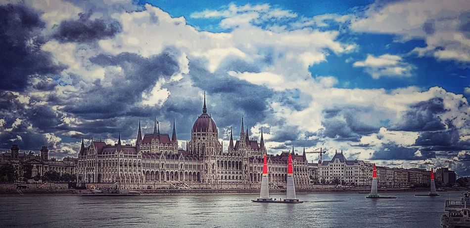 Parlament Of Hungary Tourist Attraction  Outdoor Photography Danube In Budapest Danube Red Bull Air Race Politics And Government City Water Politics Sky Architecture Building Exterior Cloud - Sky