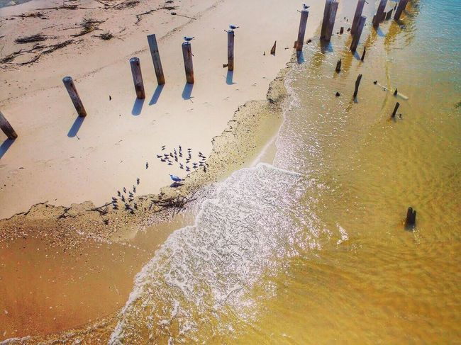 Water High Angle View Day Outdoors Sand Beach Sea Nature Architecture No People Beauty In Nature Phantom 3 New Jersey Drone Photography Fortescue Fortescue Bay Flood Beauty In Nature Aerial View Physical Geography Newjerseyphotographer Tranquility