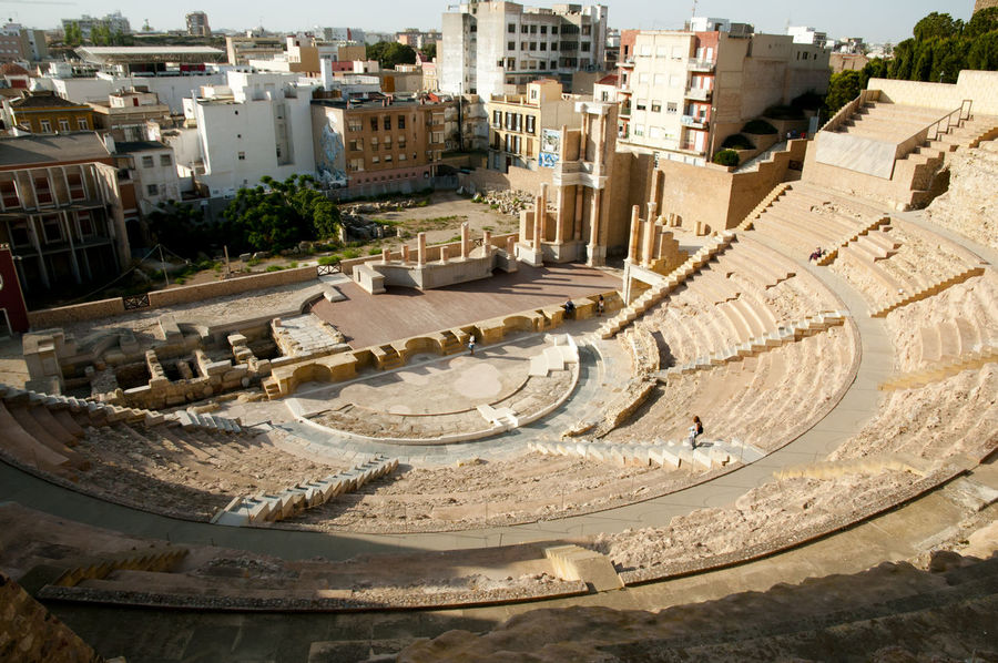 Roman Theatre Cartagena SPAIN Building Exterior Built Structure Roman Theatre