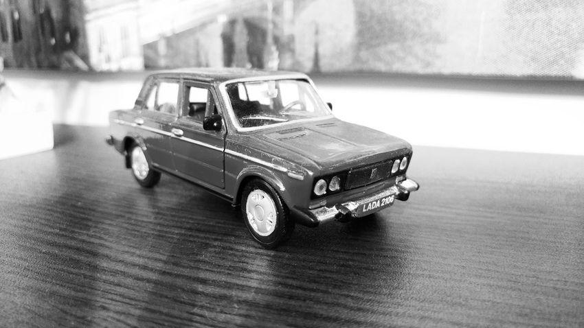 Lada Car Land Vehicle Childhood Close-up Indoors  No People LADA Varna Bulgaria Monochrome Black&white