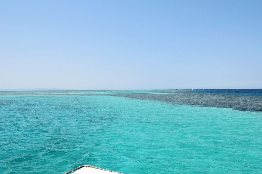 Breathing Space Sea Horizon Over Water Blue Water Vacations Nature Sunny Sky Outdoors Egypt Red Sea,Hurghada,Egypt Travel Destinations Beauty In Nature Nikond5300 Nikonphotography