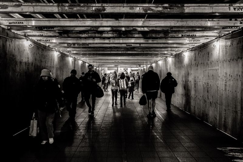 Large Group Of People Real People Men Indoors  Rear View Illuminated Women Tunnel Walking Full Length Architecture Lifestyles Day Adult Adults Only People The Week On EyeEm From My Point Of View
