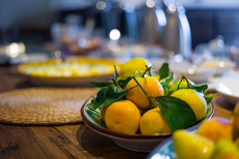 Bowl Breakfast Fruit Healthy Italy Lemons Lifestyle Limes Oranges Resturant Sicily Travel
