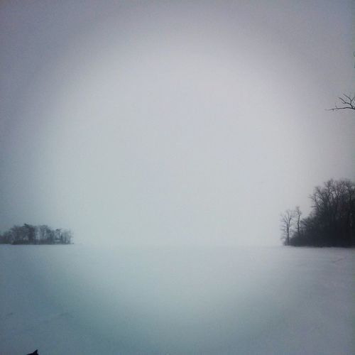Riviere-des-prairies just off gouin, white out! Perfect for paraskiing!!! Winter Paraski