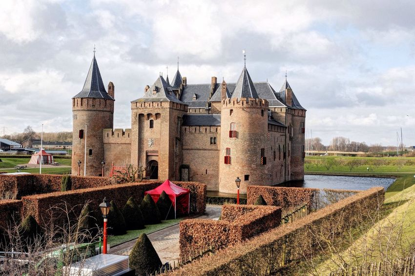 Castle Muiderslot Dutch Landscape Landscape Tryouts