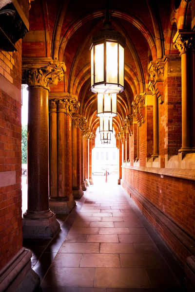 St Pancras St Pancras International St Pancras Station Arch Arches Arches And Doors Architectural Column Architecture Built Structure Collumns Corridor Day Glow History Illuminated Indoors  Lamplight Lighting One Person Orange Color Pathway People Real People Train Station Victorian Architecture The Week On EyeEm