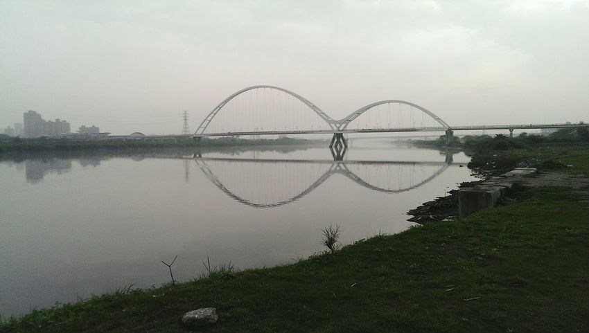 Brige Photo Geometry Relaxing Ride Bike Water Reflections Cool_capture_