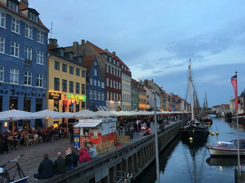 Architecture Building Exterior Built Structure Sky Large Group Of People Cloud - Sky Transportation Day Real People Outdoors Travel Destinations Water Men Nautical Vessel City Nature People Frainf Copenhagen, Denmark Nyhavn