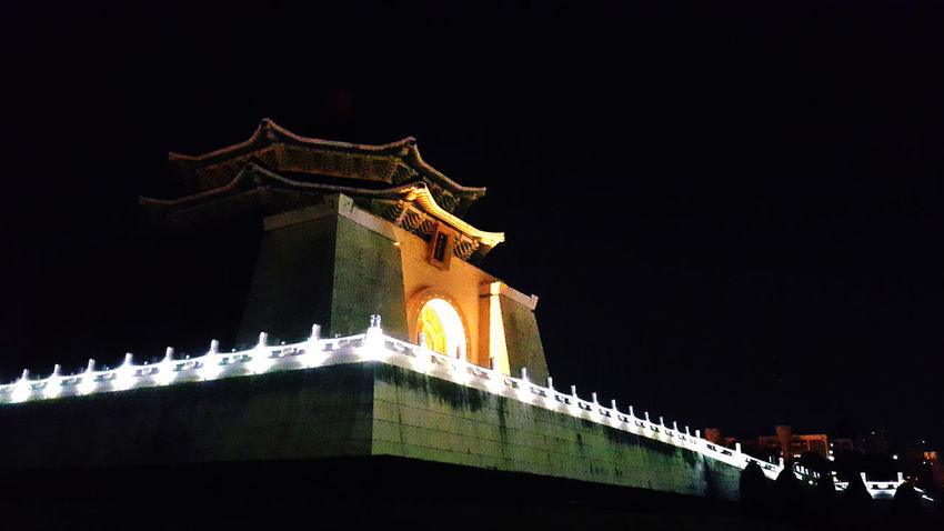 Architecture Night No People Travel Destinations Built Structure Building Exterior Outdoors Sky Taipei City Taipei,Taiwan Chiangkaishek Chiangkaishekmemorialhall