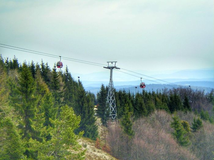 Sky Cable Electricity  No People Day Mountain Lift Jaworzyna Beskidy, Mountains, Poland, Skitour, Trip Beskidsadecki