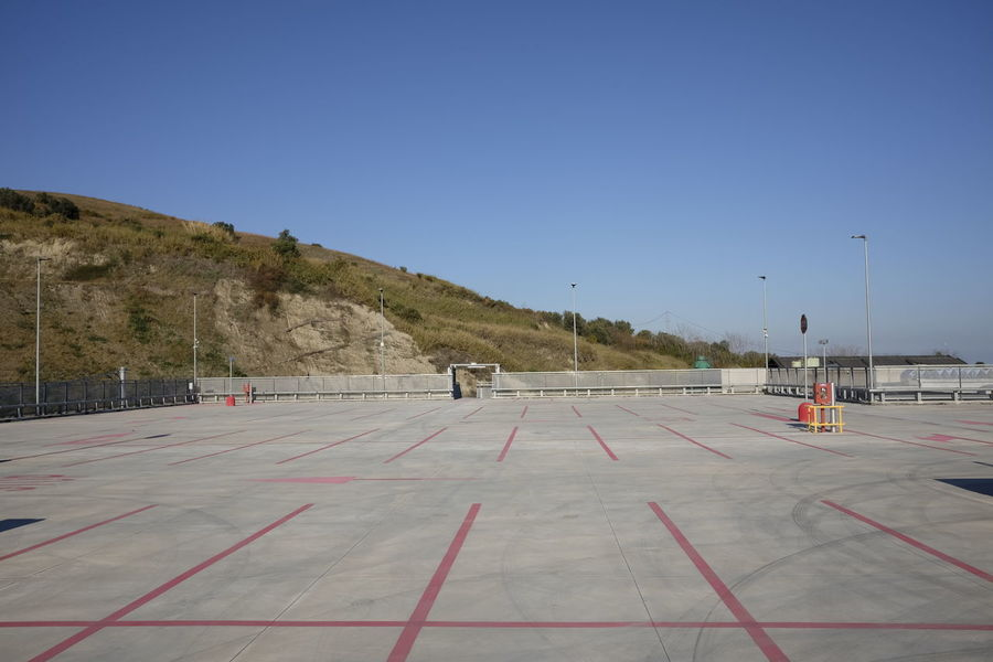 Exterior Modern Parking Lot Shopping View Concept Empty Lot Mall Parking Parking Area Shopping Mall Space