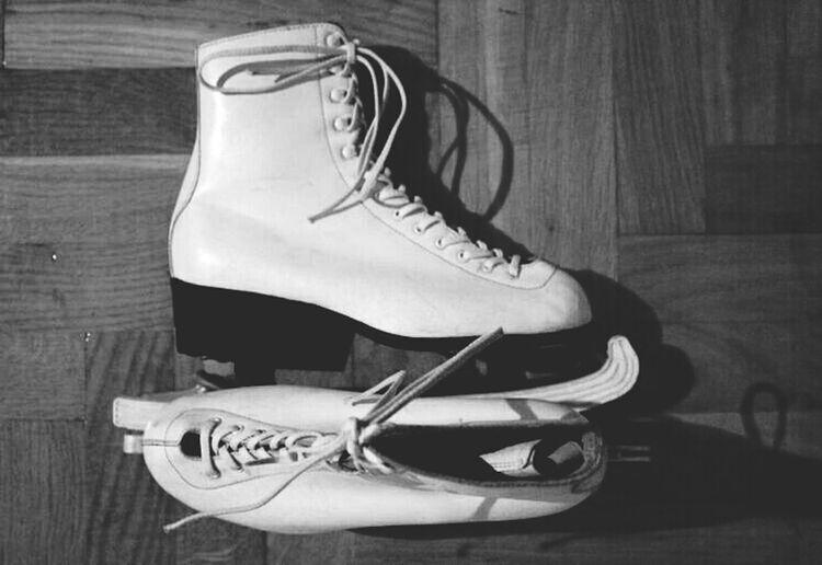 My mum's skates . Old Skates Skates Black And White Vintage