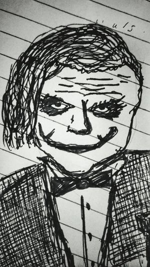 quick sketch#4min#joker#savage Pen Sketching Portrait Sketch Ink Close-up