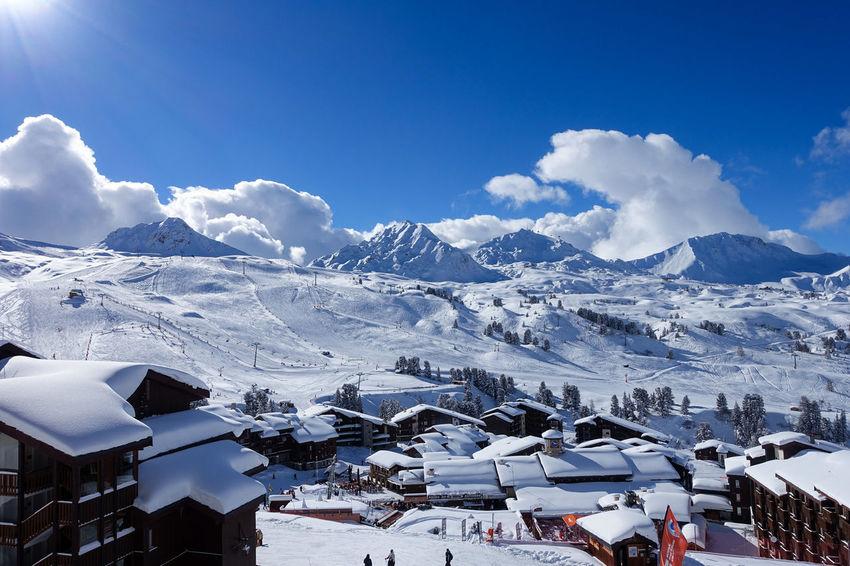 Belle Plagne France La Pagne Skiing Winter Alps Cold Temperature Snow Winter
