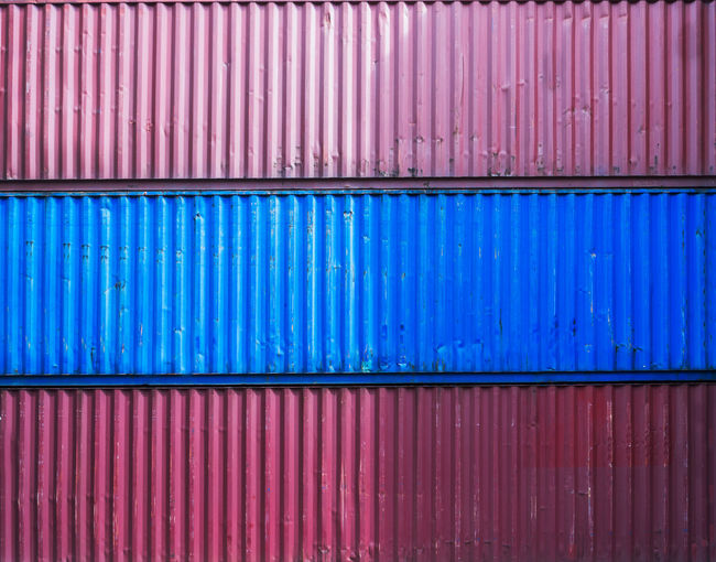 Full frame shot of cargo container