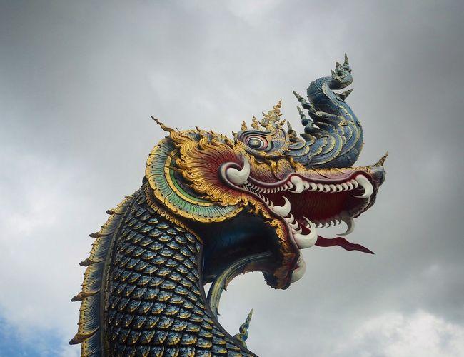 Naga Sky Cloud - Sky Low Angle View Art And Craft Sculpture Representation Animal Representation Statue Creativity Craft