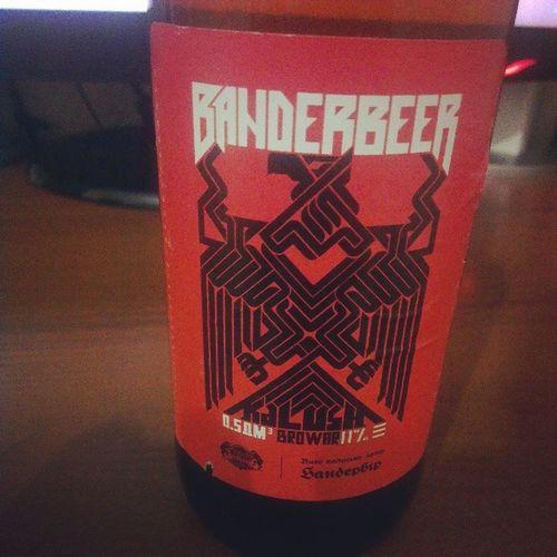 Пиво від хлопців з Бандерштату Banderbeer Ukraine UA пиво Beer Lviv Lemberg украина Бандерштат Бандера Bandera УПА ОУН свобода