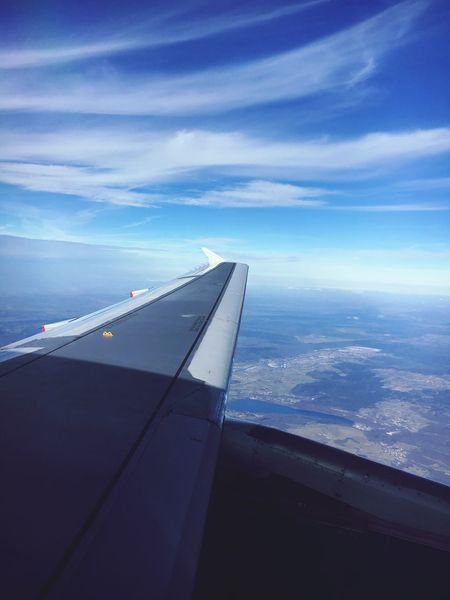 Window seat 1 Airplane Sky Transportation Aircraft Wing Airplane Wing Travel Aerial View Cloud - Sky Journey Flying No People Air Vehicle Day Flight British Airways