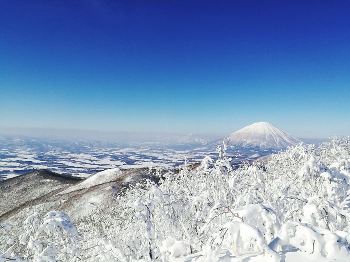 Blue Sky No People Scenics Snow Day Nature Business Finance And Industry Outdoors Cold Temperature 羊蹄山