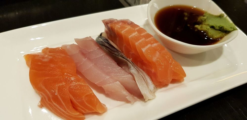 Sashimi  Sushi Plate Seafood Gelatin Dessert Table Japanese Food Cultures Close-up Food And Drink