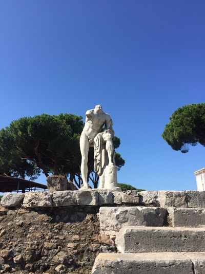 A statue in Ostia, Italy