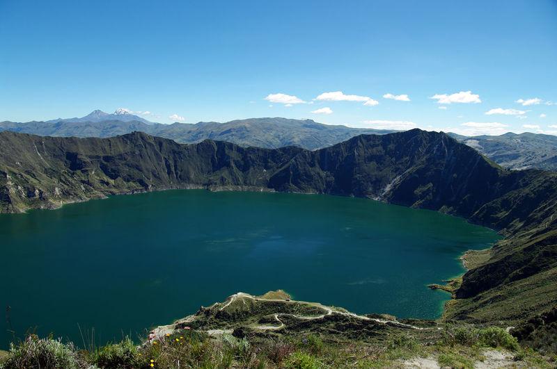 The quilotoa crater in ecuador