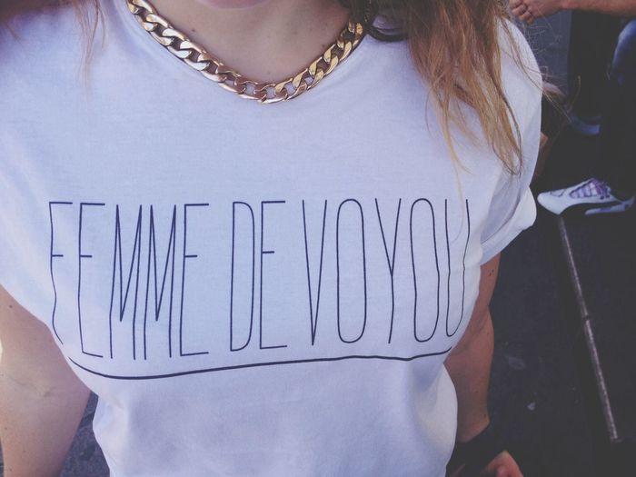Tshirt Femmedevoyou Florettepaquerette Chainz