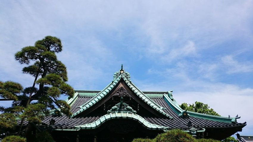 Japanese Temple Roof Sky