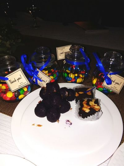 Sweets! 😍😍😍 Sweets Brownies Ube  Candies! Chocolate Chocolate Candy Wedding Giveaway Pastry Dessert Temptation