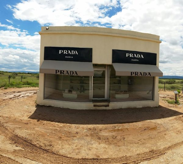 Prada Marfa. Arts Culture And Entertainment Old-fashioned Text Business Finance And Industry Sky Cloud - Sky