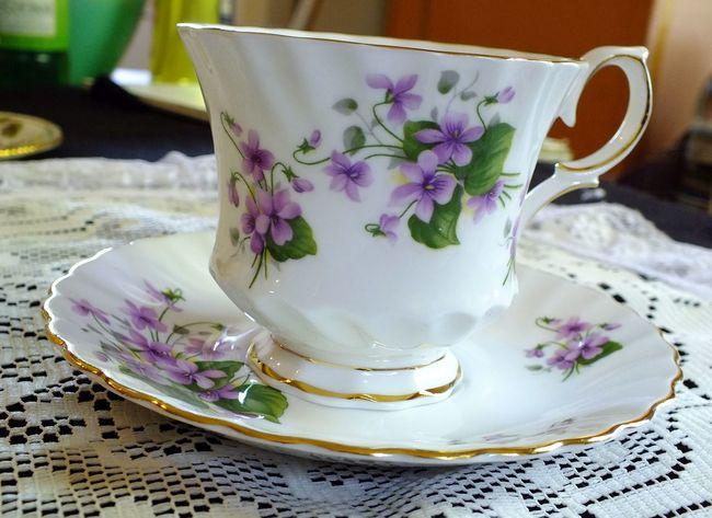 Floral Tea Cup Purple Flowers Tea Tea Cup Tea Cups Tea Party Tea Time Tea Time! Teatime Vintage Vintage Tea Vintage Tea Cups Vintage Teacups Violets