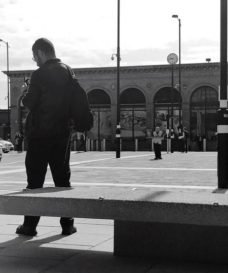 Trainspotting Built Structure Architecture Real People Outdoors Building Exterior Day Full Length One Person Men Standing Sky Adult One Man Only City People Only Men Adults Only The Street Photographer - 2017 EyeEm Awards