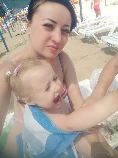 In fact, we are happy. Honestly. 😅🏖 Summer Sea Sun Beach Happiness Vacation Black Sea
