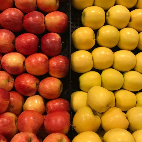 Apples EyeEm Selects Healthy Eating Fruit Abundance Full Frame Food Food And Drink Large Group Of Objects Supermarket Yellow Freshness No People Backgrounds