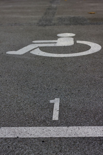 Asphalt City Disabled Information Parking Parking Lot Road Road Marking Street Symbol Wheelchair