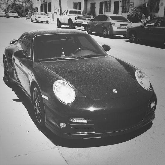 Porcheeee! Porche Black & White Car Car Porn