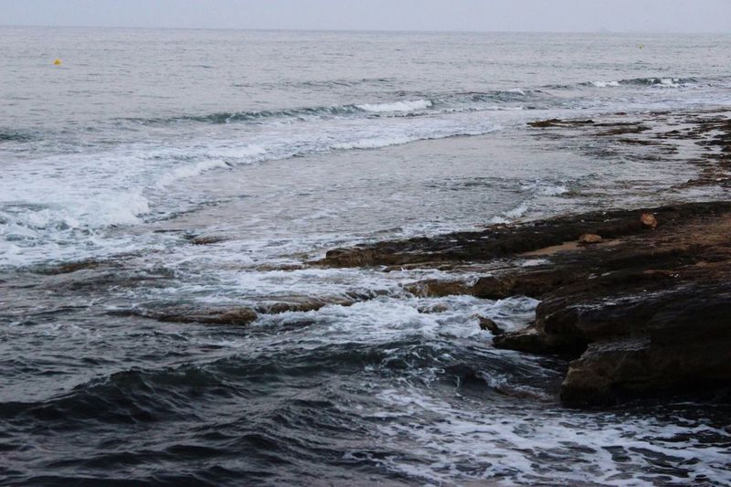 🌊 Ocean Waves Evening Canon600D SPAIN Murcia Water Photography Photographer