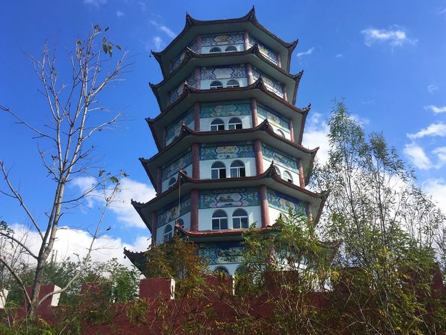 Tree Architecture Low Angle View Sky Built Structure Building Exterior No People Day House Window Outdoors Cloud - Sky Growth Plant Branch Nature Bare Tree Temple Temple - Building Temple Architecture Temple Chinese